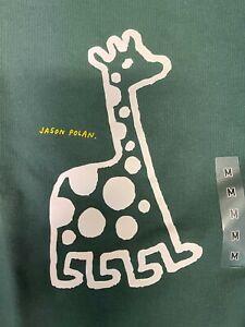Uniqlo X Jason Polan Sweatshirt Men Size US S-XL Green Giraffe UT NWT Sold Out
