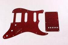Red Glitter HSS pickguard + trem cover set Fits Fender Strat Stratocaster