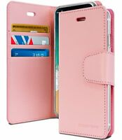 iPhone XS Max Genuine MERCURY Goospery Sonata Diary Pink Flip Case Wallet Cover