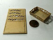 1 EUR SONNTAG Tablett M 1:12 Bastelset kit Puppenstube