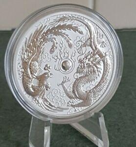 2017 Australia 1oz 999 Silver Phoenix Dragon Bullion Coin Perth mint In Cap