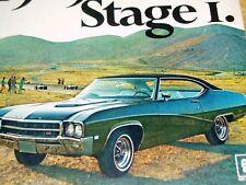1969 BUICK SKYLARK GS400 (2) ORIGINAL ADS * GS 400/STAGE 1/steering wheel/bumper