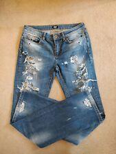 "Ladies Women D&G Ripped Jeans Blue Size 28"""