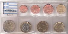 GRECIA DIVISIONALE  PRIVATA 2002 DA 1 CENT A 2 EURO  FDC UNC