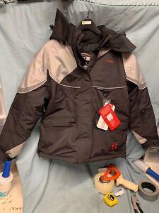 Striker Ice Womens Prism Jacket Size 10 (Size 10 / Black/Grey) 124004 (9357 WA1