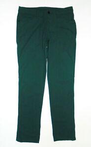 LULULEMON Athletic ABC Pants FUEL GREEN Warpstream Straight Stretch Mens 32x32
