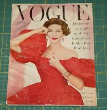 November Vogue 1956 Rare Vintage Vanity Fair Fashion Design Collection Magazine