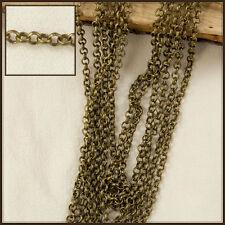 1m x 1.5mm antique bronze laiton rolo chaîne 102