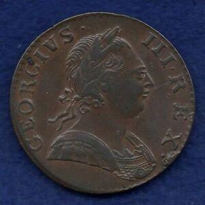 Great Britain, George III, 1775 Halfpenny, Better Grade (Ref. c8139)