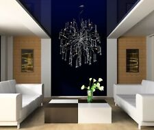 New Modern Crystal Aura Chandelier Abstract Metal Ceiling Lights  Lamp Fixture