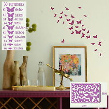 Butterfly Wall Stickers! Home Transfer Butterflies Graphic Decal Decor Stencils
