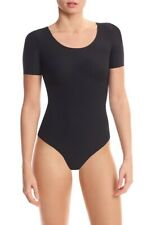 Commando Butter Scoopneck Bodysuit: Size S: Black (132)