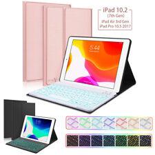 "For 2019 iPad 10.2"" 7th Gen Pro 10.5"" Air 3 Backlit Keyboard Smart Folio Case"
