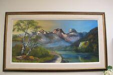 """ABRAHAM GOERTZ Canadian Artist The Lions Mountains BC Vancouver 40"""" x 20"""""""