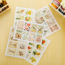 New 48pcs Retro Stamp Sticker Seal Envelope Scrapbooking Diary Photo Album Decor