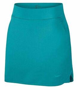 "Nike Flex 17"" DriFit Aqua Womens Golf Skorts Skirt Sz Large NEW AJ5242 309 RARE"