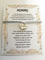 FIRST 1ST CHRISTMAS AS MUMMY XMAS TREE DECORATION STOCKING FILLER CARD GIFT POEM