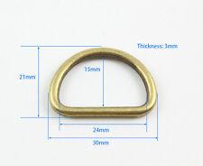 40 Piece 24mm Antique Brass Color Welded Metal D Ring For Purse Bag Handbag