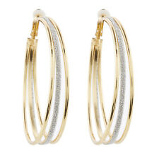 Clip On Hoop Earrings - gold plated with three hoops - Kanda G