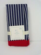 Pottery Barn Baby Logan Bed Skirt Navy Red #6363