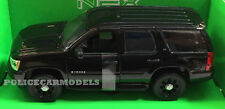 Welly 1/24-1/27 2008 Chevy Tahoe Police SUV - BLANK BLACK w/ Accessories 22509