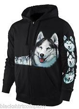 Sweatshirt-Jacke / Hoody Schlittenhund Malamut