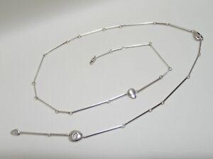 "GEORG JENSEN sterling silver #444 Pebbles long necklace 33"""