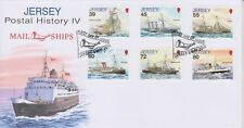 Unaddressed Jersey First Day Cover FDC 2010 Postal History IV Mail Ships Set