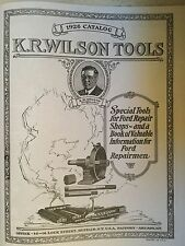 1926 K.R.Wilson Special Tools Catalog EARLY FORD, Model A, Model T