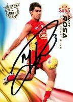 ✺Signed✺ 2016 GOLD COAST SUNS AFL Card MATT ROSA