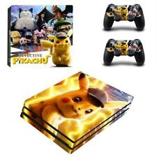 Detective Pikachu PS4 Pro Consoles Controllers Vinyl Skins Decal Stickers Covers
