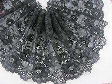 WUNDERSCHÖNE 15CM Breit schwarz Elastisch Spitze 1 Meter Elastic lace 0327