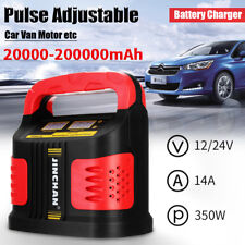 Auto Plus Adjust LCD Battery Charger 12V-24V Car Jump Starter Booster 350W 14A
