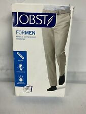 Jobst Large Men's Black Thigh 20-30 mmHg Ribbed Compression Stocking Closed Toe