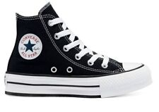 Scarpe donna Converse all star 671107C sneakers alte platform nere chuck taylor