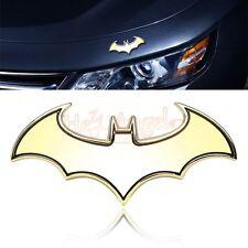 Golden Metal Cool 3D Bat Badge Emblem Decal Sticker Auto Detailing Car Styling