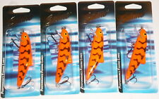 Salmo SK10F Skinner Crankbaits/Jerkbaits (Lot of 4-Red Tiger)