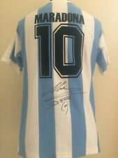 Argentina 1986 Number 10 Shirt Signed By Diego Maradona Letter Of Guarantee