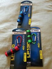 LUX PRO Key Chain 60 Lumen Focus Light -130-Assorted Colors 3 packages