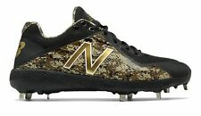 release date de4bd f232d New Balance Low-Cut 4040V4 Metal Baseball Cleat Adult Shoes Black With Green