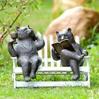 Rowboat Picnic Frogs Wine Drinking Frog Boat Garden Pond Sculpture Statue SPI