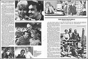 """1971 Tv Ad Hogan's Heroes + The High Chaparral fall preview article 8""""x10.75"""" x2"""