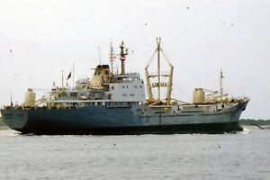"35mm SLIDE :   MARITIME :  ""BARADA"" GENERAL CARGO SHIP IN CLOSE=UP"