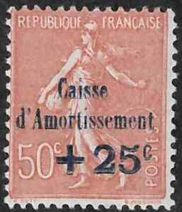 France #B29 Mint Hinged 35% of SCV $32.50  **FREE Domestic SHIPPING**