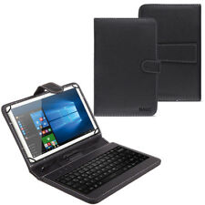 NAUC Tablet Tasche USB Tastatur QWERTZ Keyboard Tablet Hülle Schutz Cover Case
