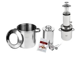 SCHINKENKOCHER + WASSERMANTEL 1.5kg SET: Schinkenform +Thermometer Kochschinken