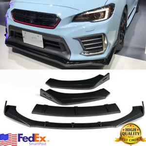 Carbon Fiber Look Front Bumper Lip Splitter Spoiler For Subaru WRX STI 15-2020