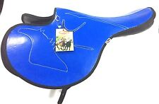 New Design Freeny Brand Synthetic Race Exercise Saddle Blue Color
