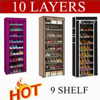 Portable Steel&Fabric Shoe Rack Shelf Storage Closet Organizer Cabinet 9Lattices
