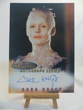 the women of Star Trek In Motion autograph series A4 Alice Krige Borg Queen